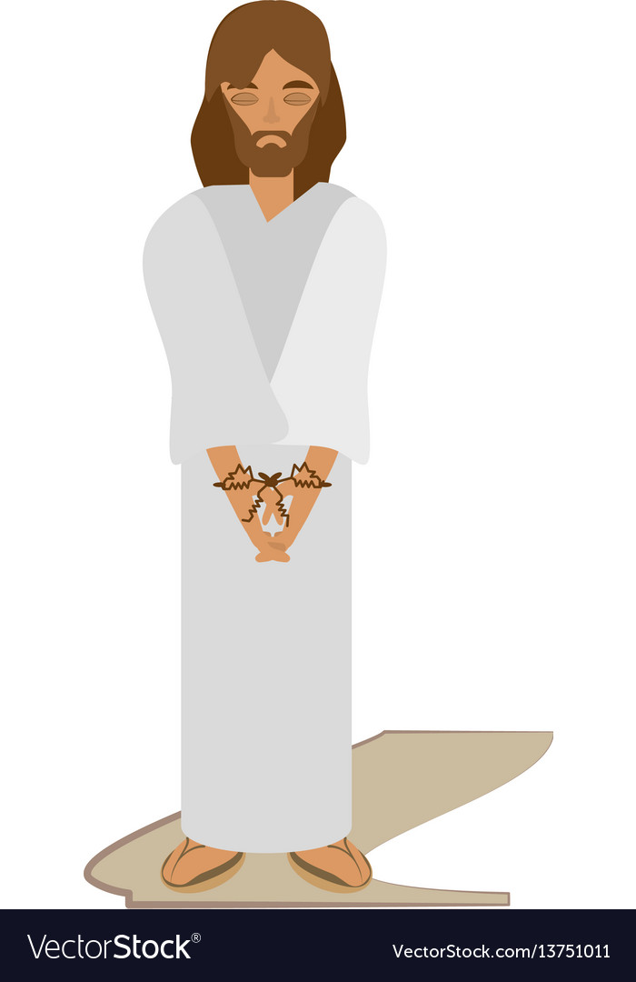 Jesus christ sentenced death - via crucis vector image