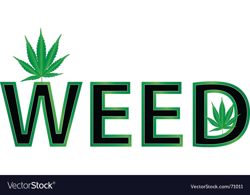 Weed leaf illustration vector image