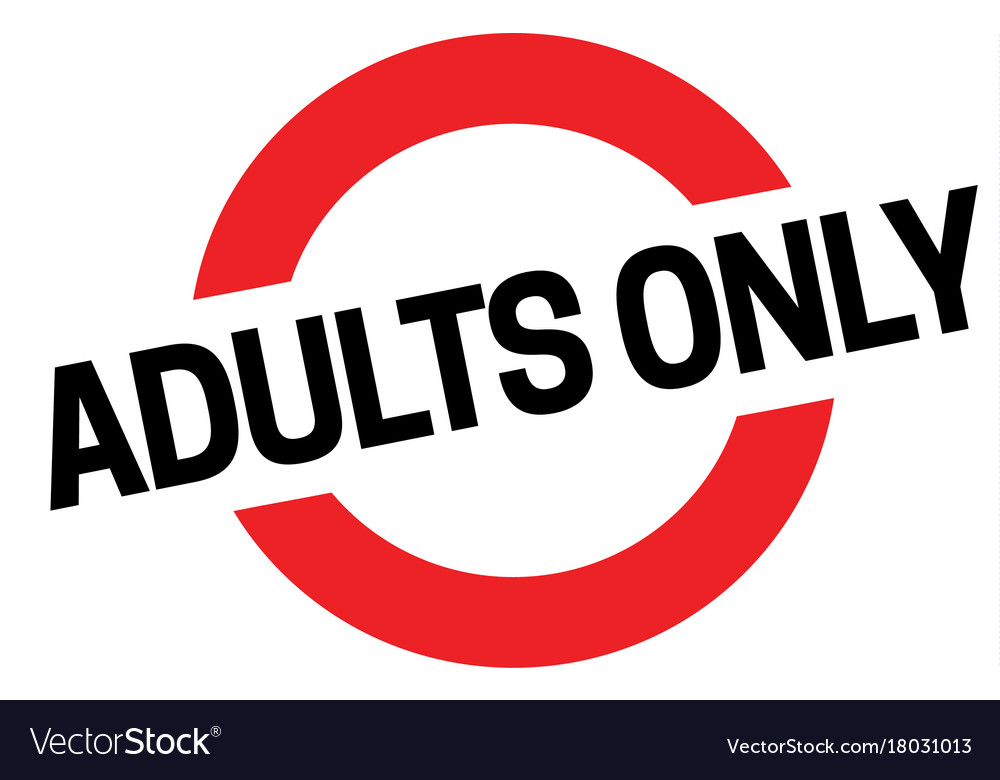 Adult only sticker vector image