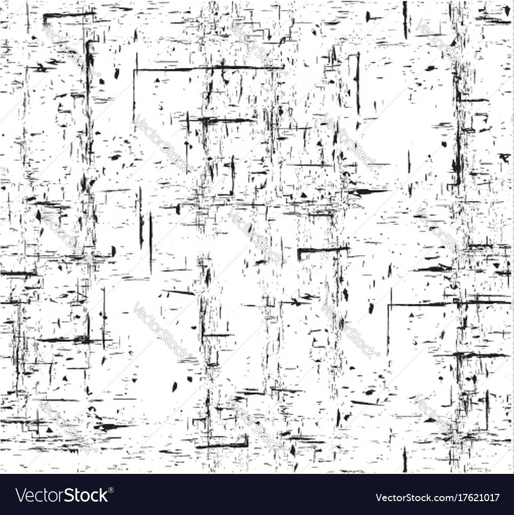 Seamless black and white grunge texture with vector image