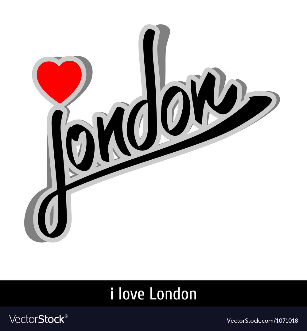 London greetings hand lettering Calligraphy vector image