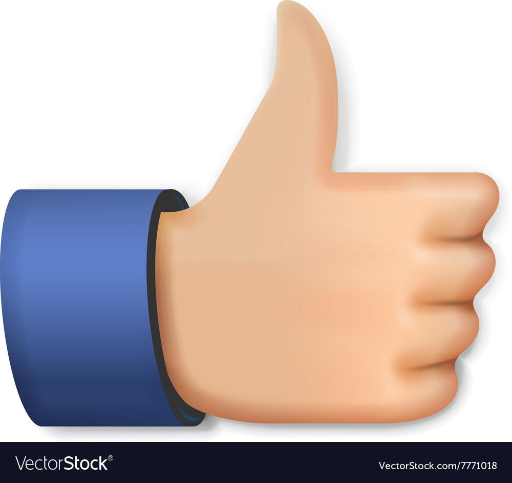 Like icon emoji thumb up symbol royalty free vector image like icon emoji thumb up symbol vector image biocorpaavc