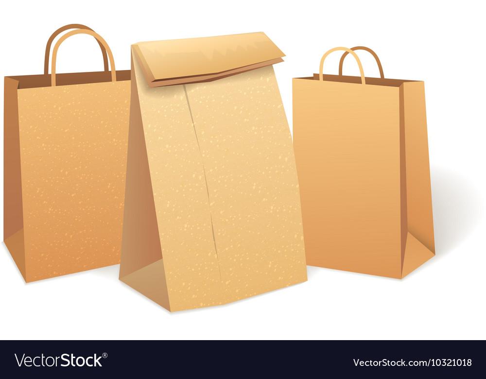 Shopping paper bag Eco Market Promo vector image