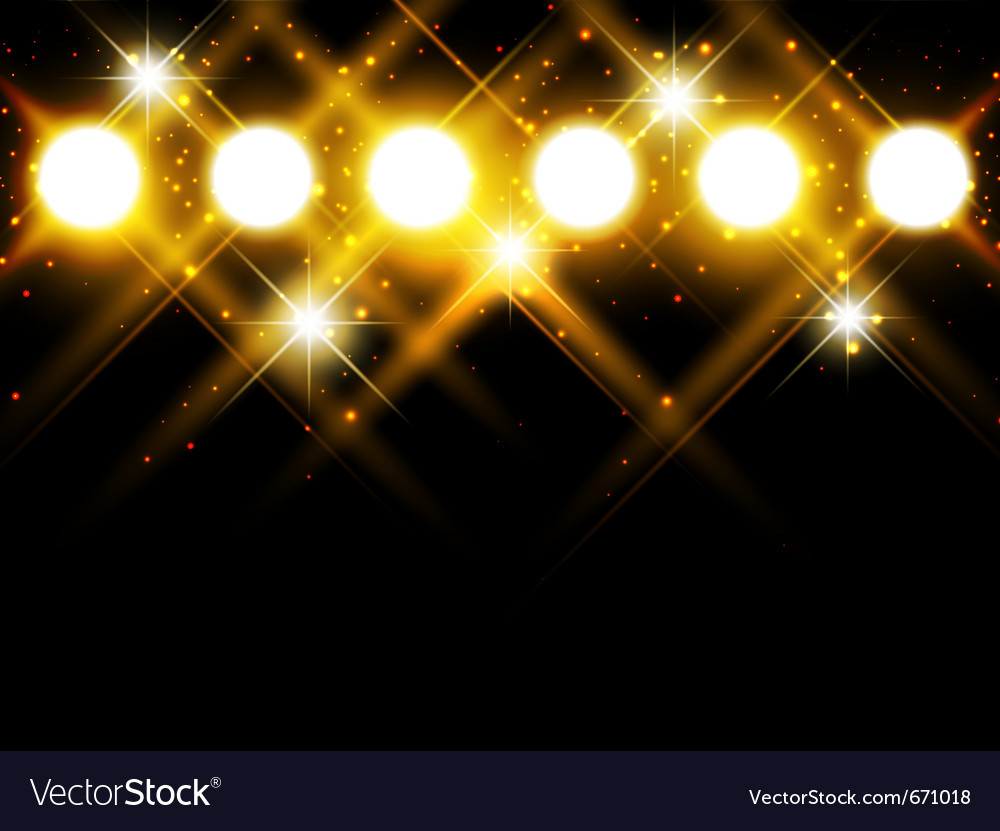 Spotlights with stars vector image