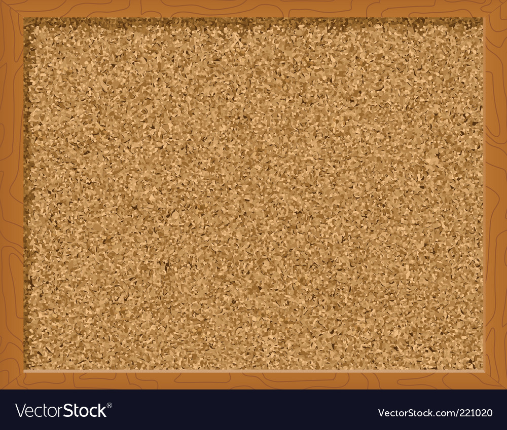 Corkboard vector image