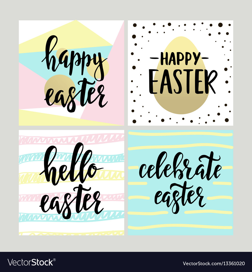 Set with happy easter gift cards with calligraphy vector image set with happy easter gift cards with calligraphy vector image negle Choice Image