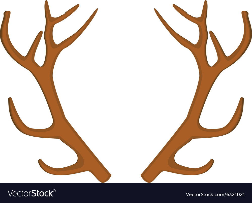 Deer horn vector image