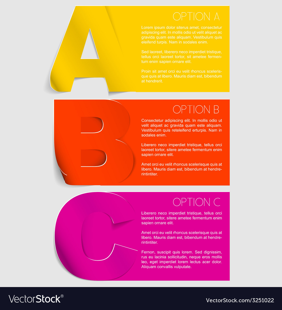 Progress background with three steps vector image