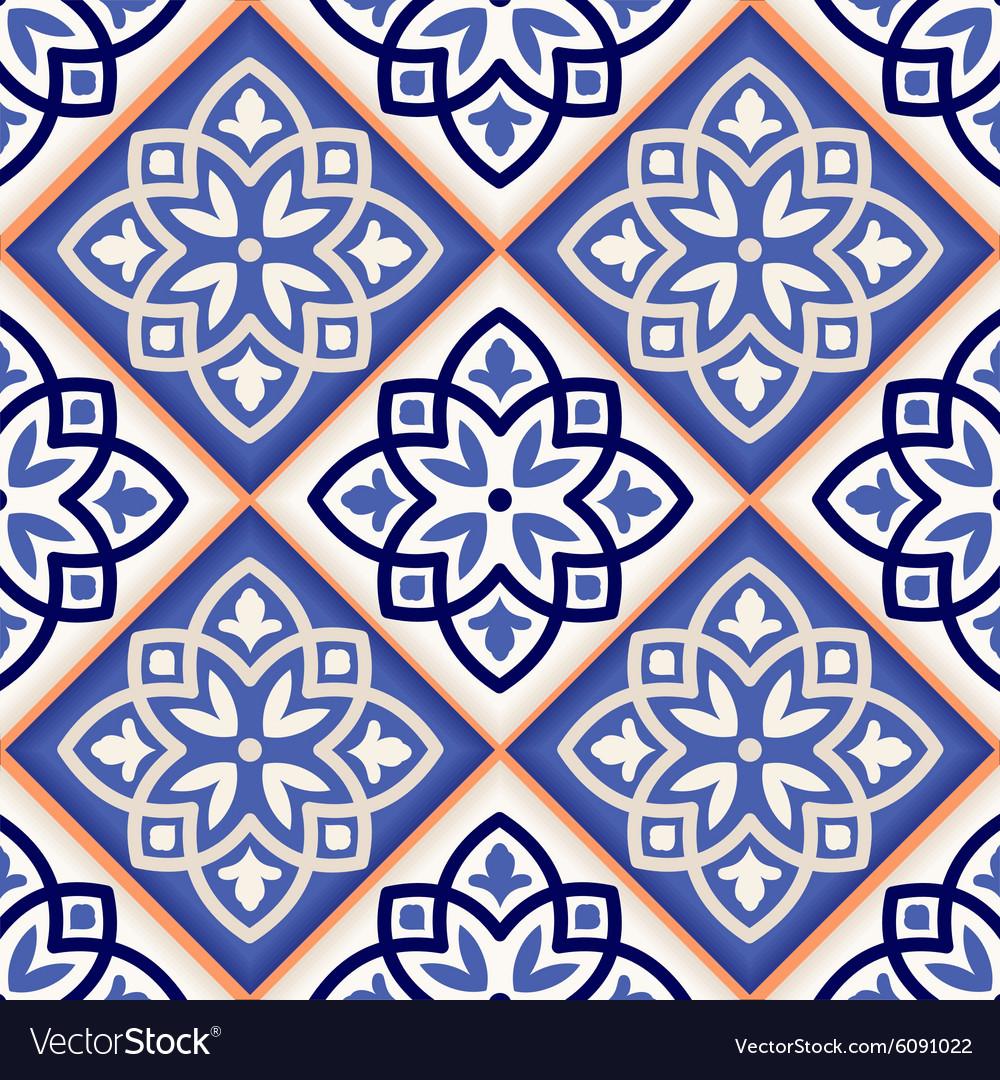 Seamless Moroccan Tiles Vector Image