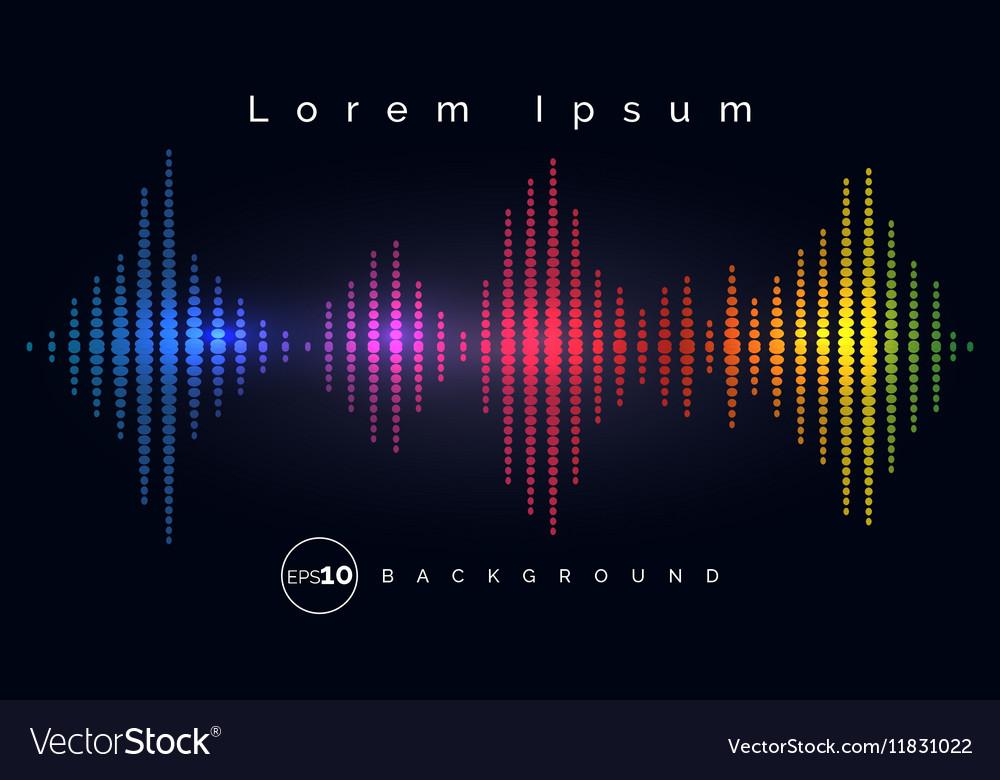 Waveform stereo equalizer poster vector image