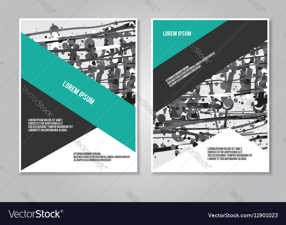 Booklet layout creative template vector image