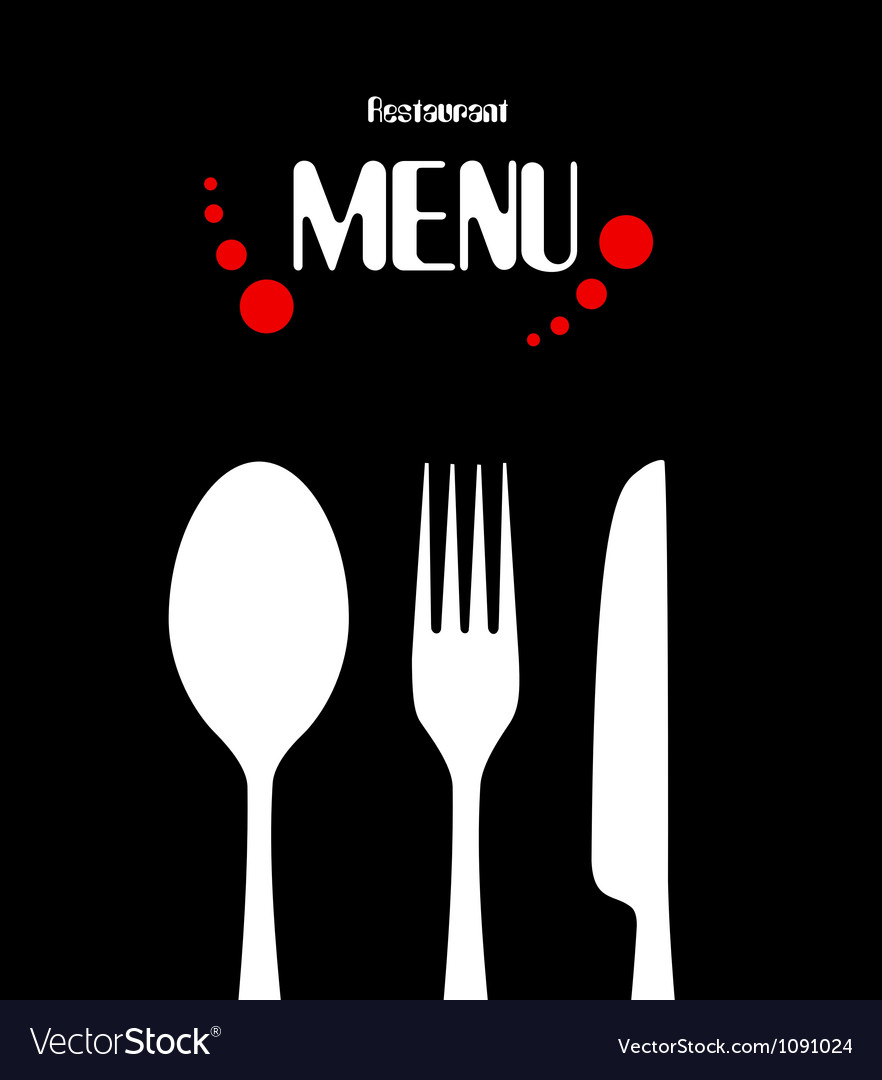 Simple restaurant menu design vector image