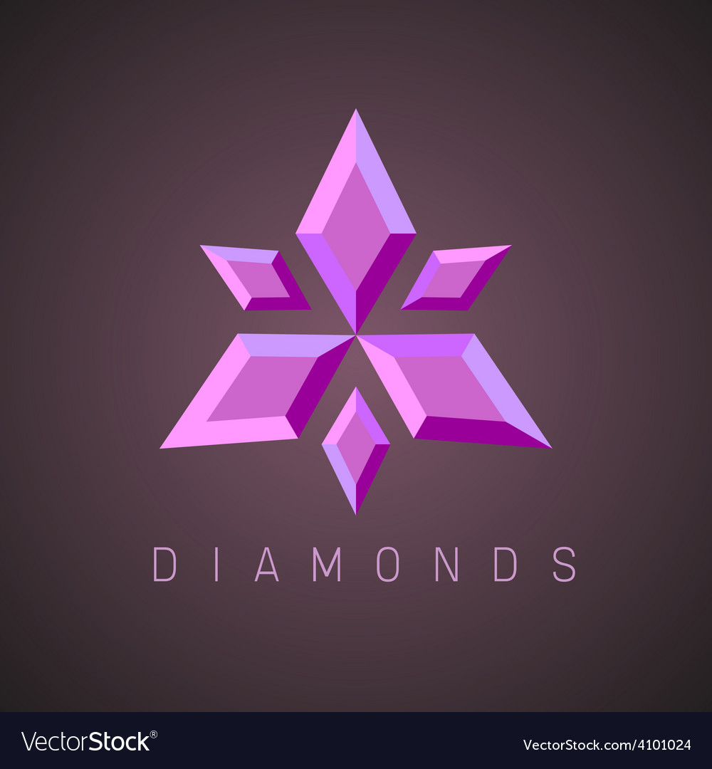 Ruby gems logo template vector image
