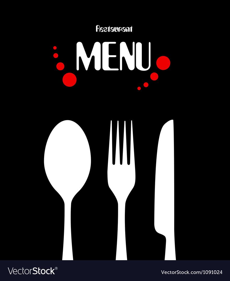 Simple restaurant menu design vector image