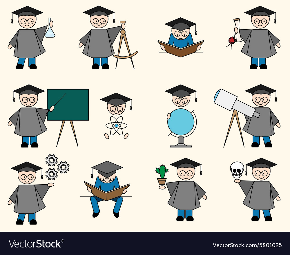 Bachelor or Education Set vector image
