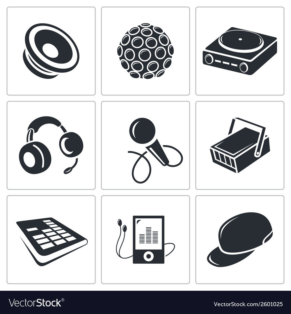 Nightclub icon collection vector image
