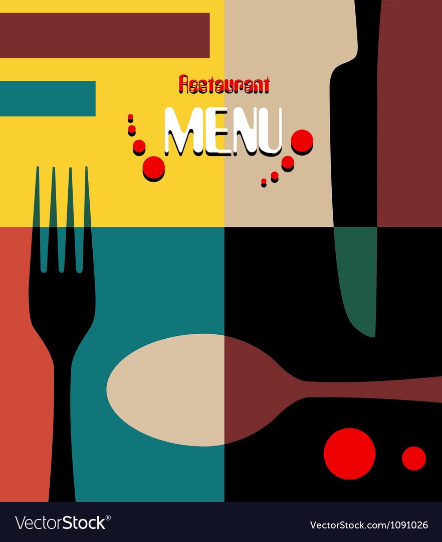 Beauty retro restaurant menu design vector image