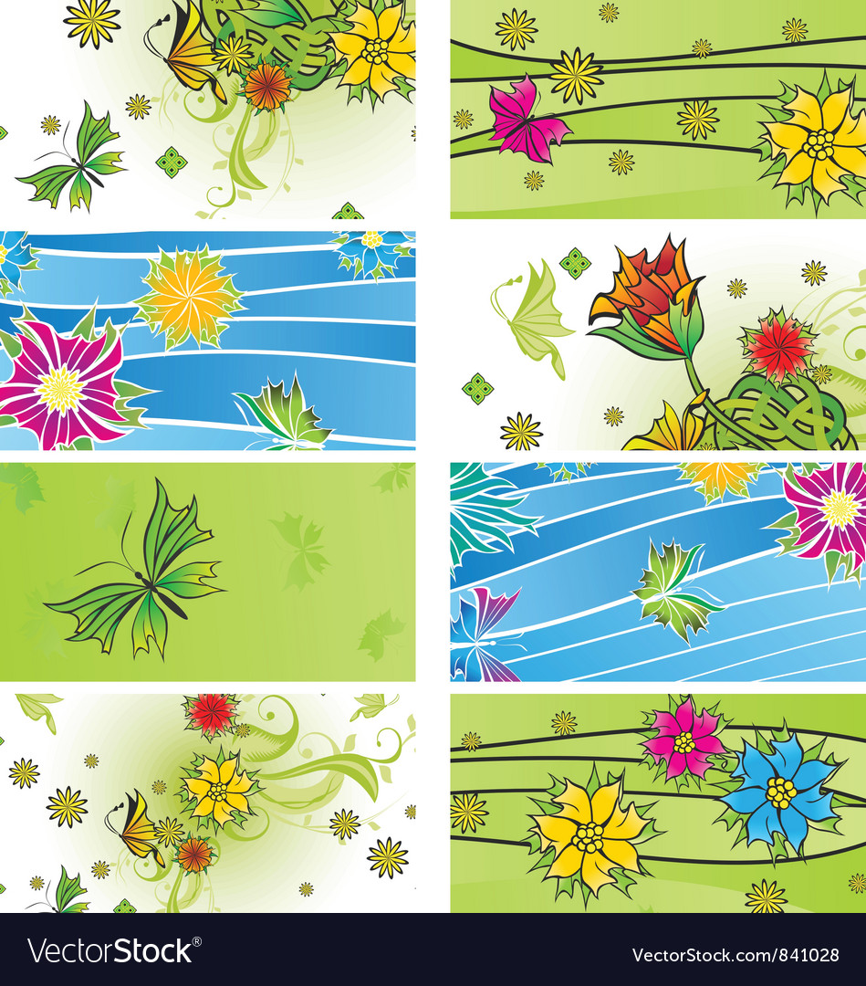 Banners summer vector image