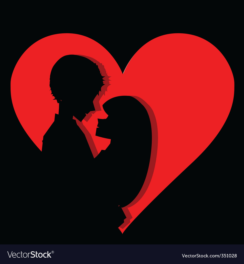 Couple in heart vector image