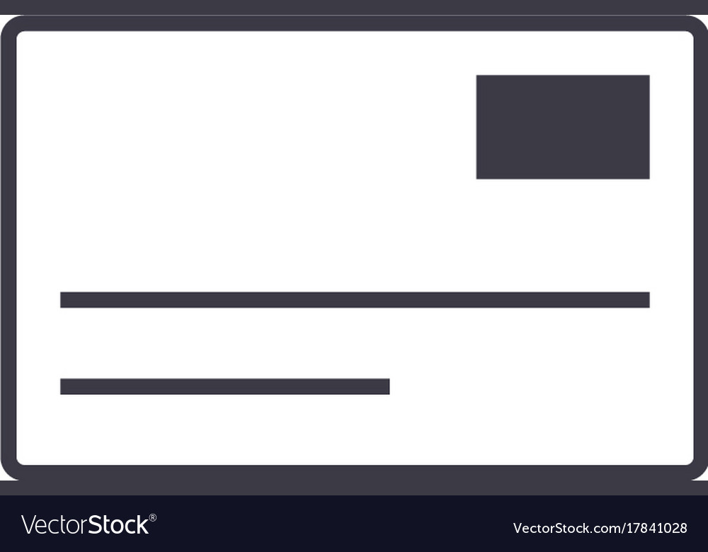 Postcardemail line icon sign vector image