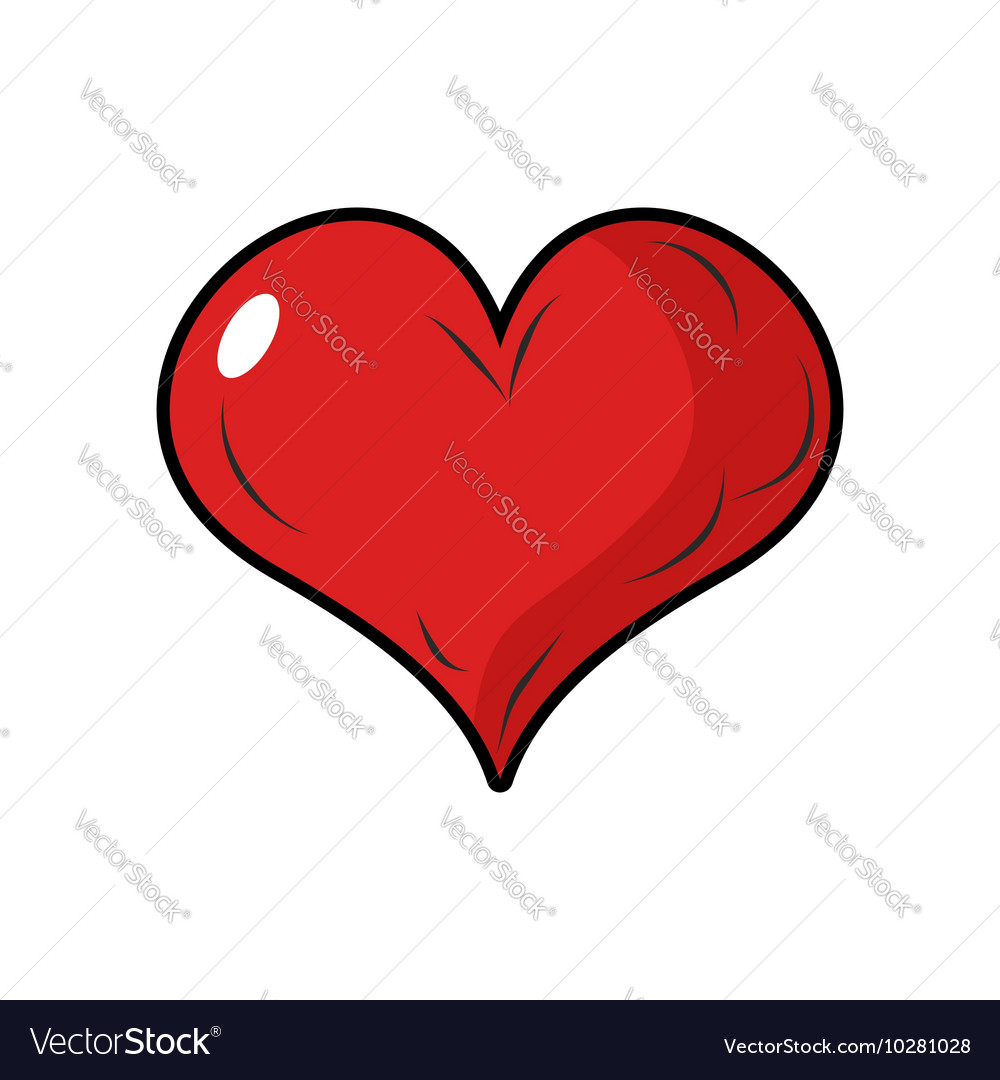 Red heart symbol of love 3d heart with blink vector image biocorpaavc Gallery