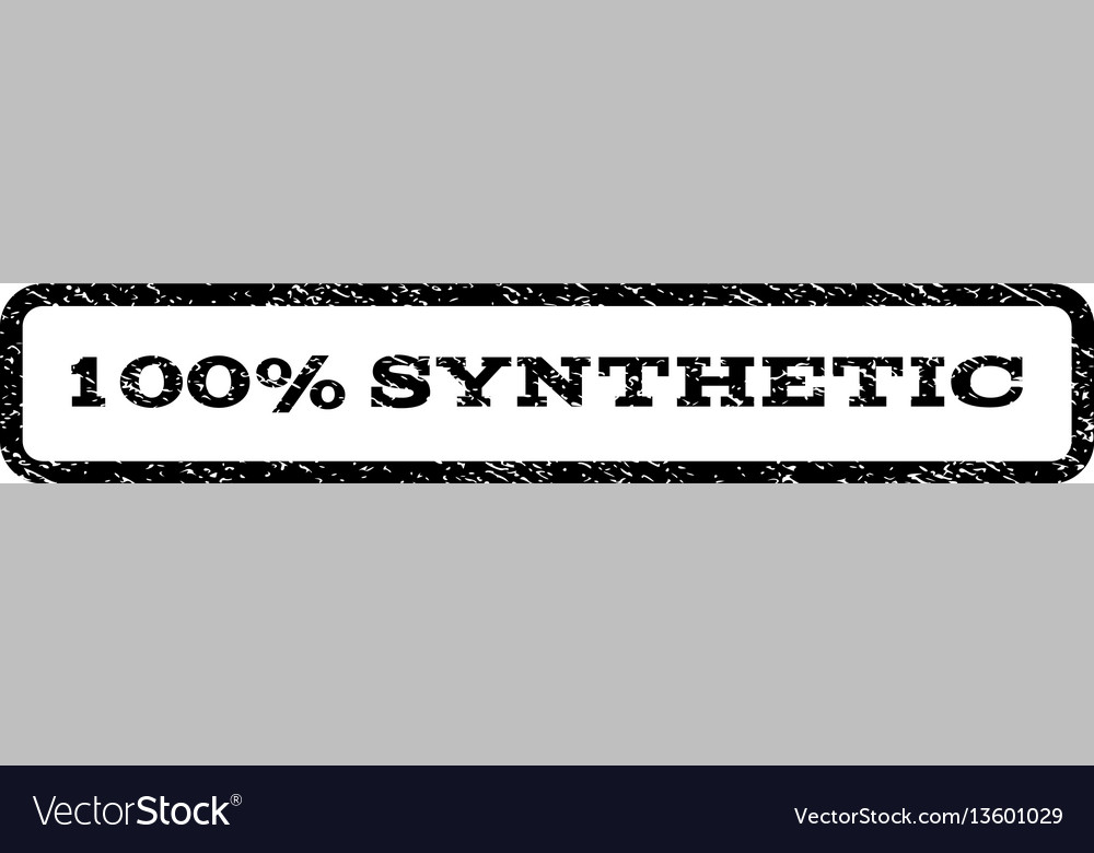 100 percent synthetic watermark stamp vector image