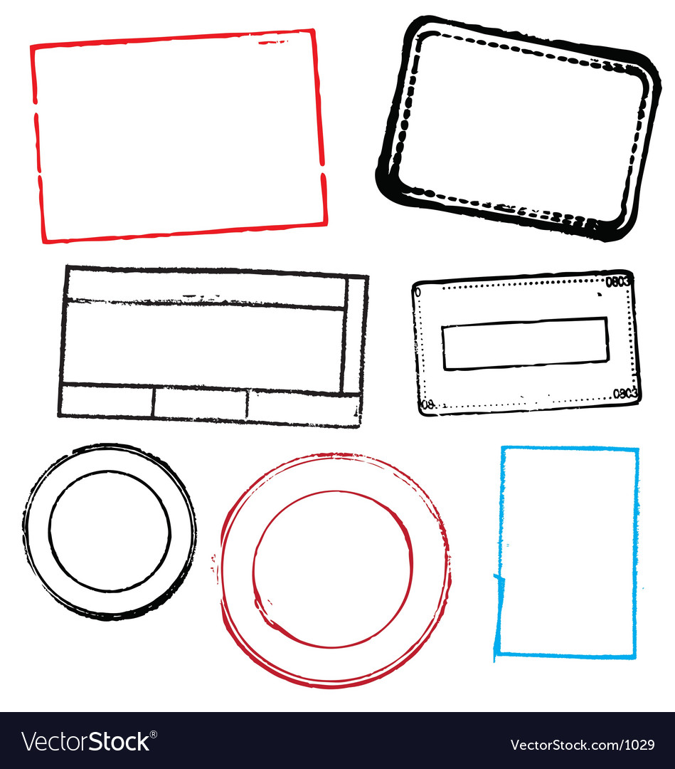 Blank stamps vector image