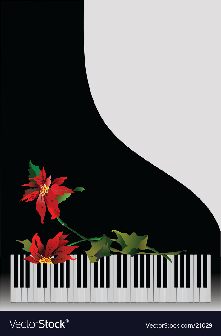 Piano with flowers vector image