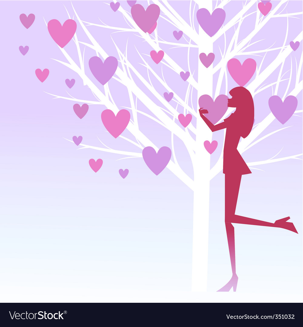 Love girl vector image