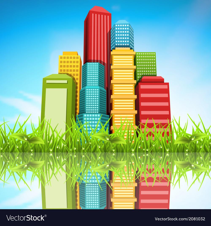 Spring landscape vector image