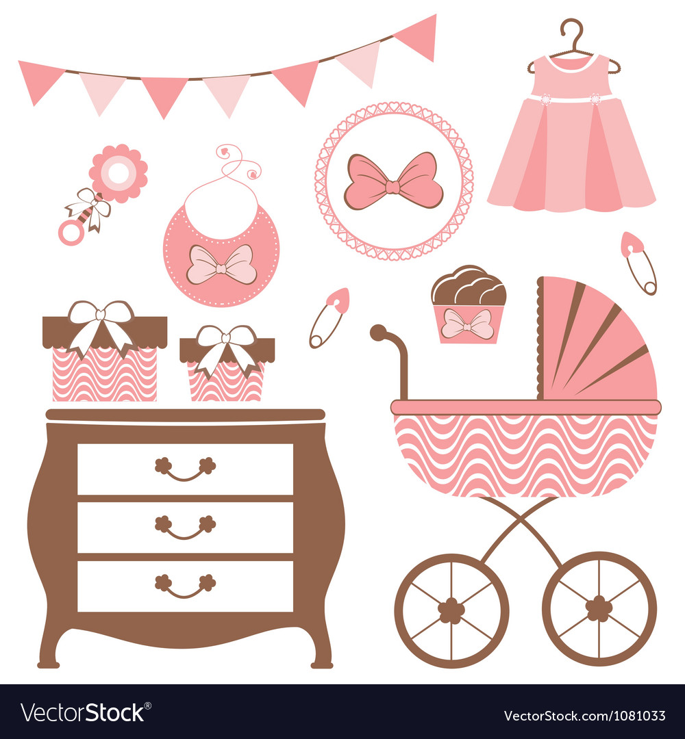Baby girl is coming vector image