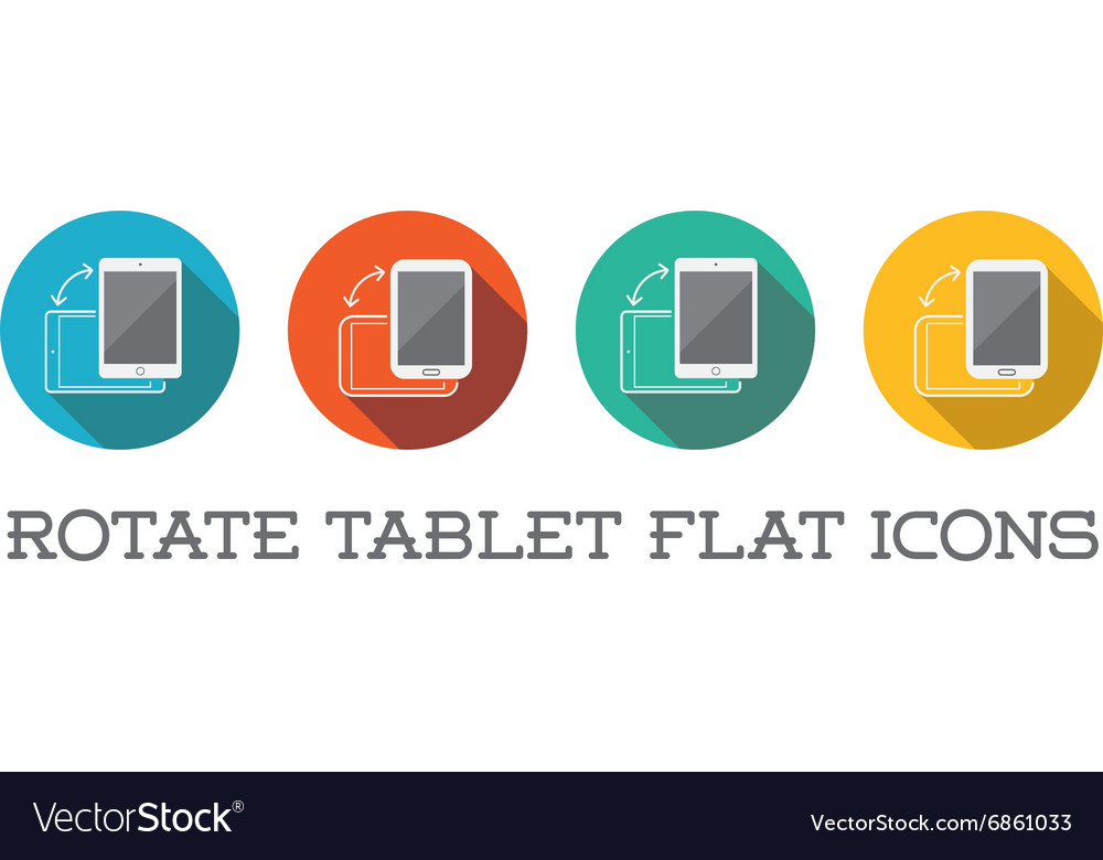 Colorful Rotate Round Flat Smartphone or Cellular vector image