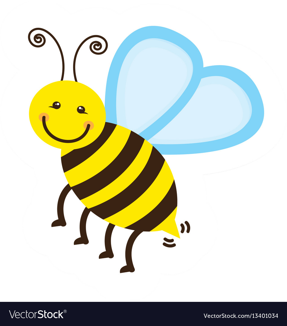 Colorful bee icon stock vector image