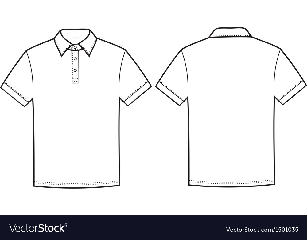 Polo t shirt royalty free vector image vectorstock for T shirt design vector free