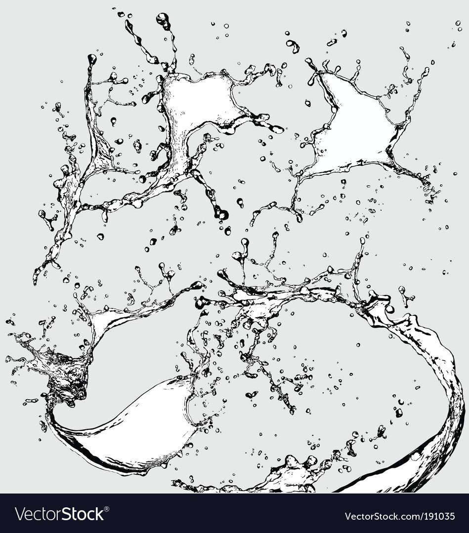 Watersplashes vector image