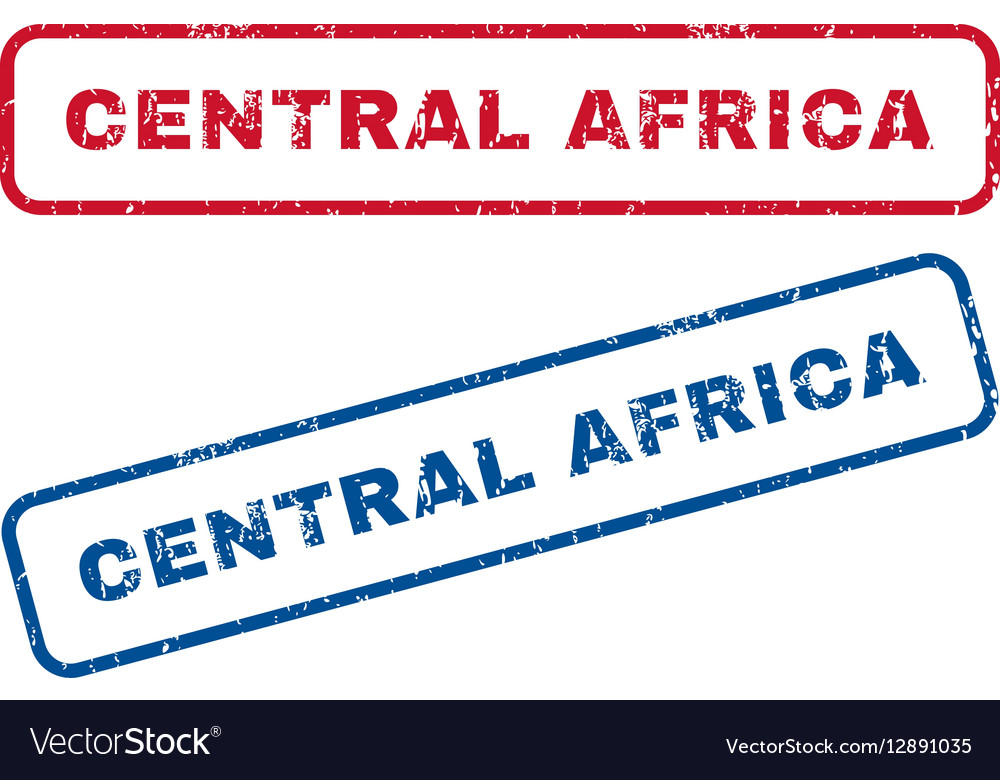 Central Africa Rubber Stamps vector image