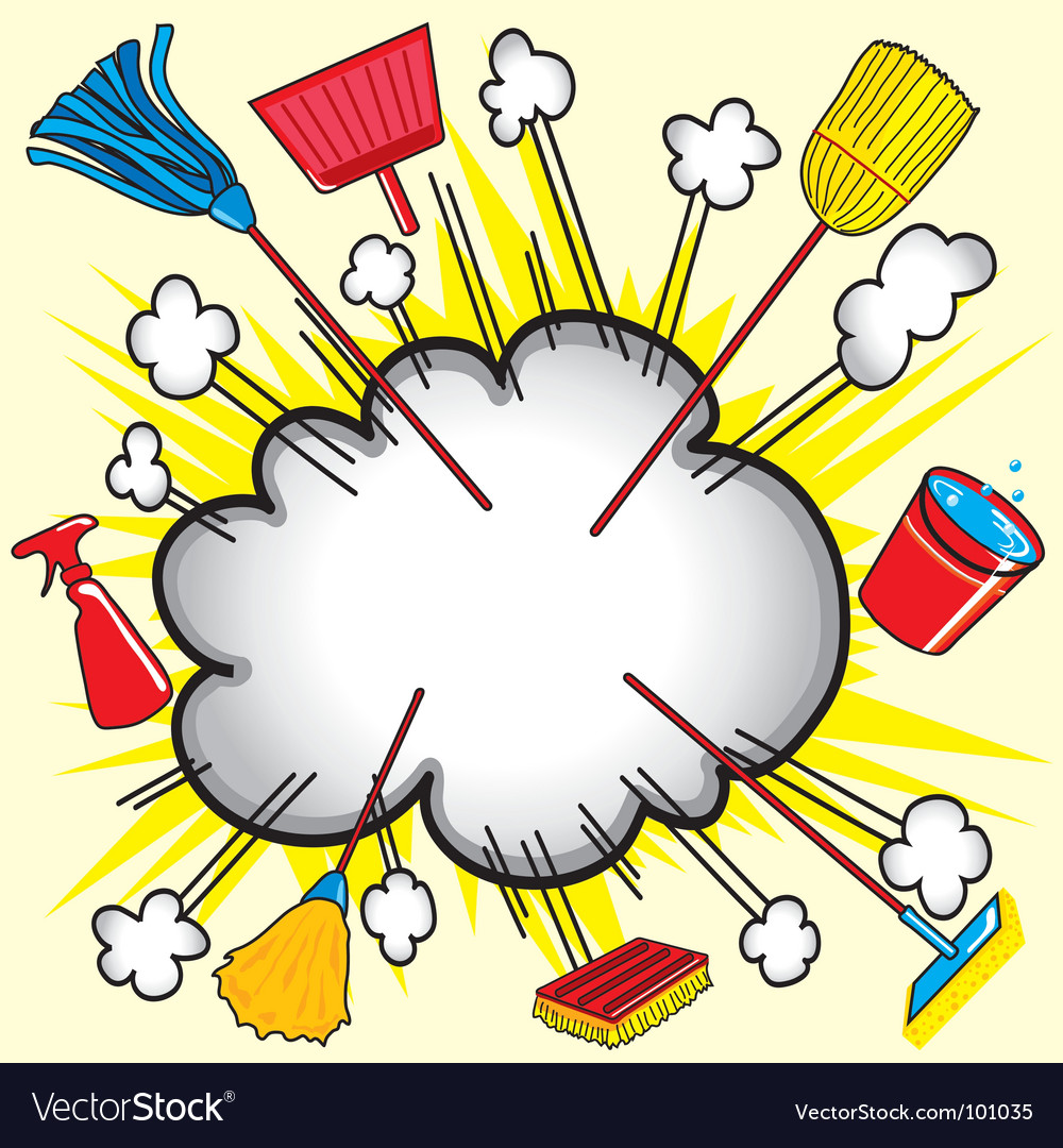 Cleaning cloud vector image