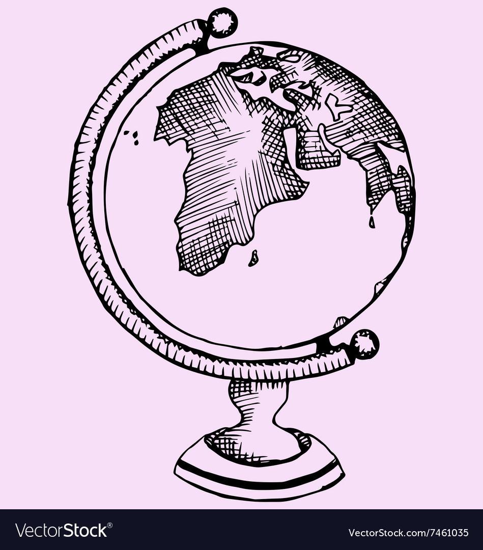 Globe world vector image