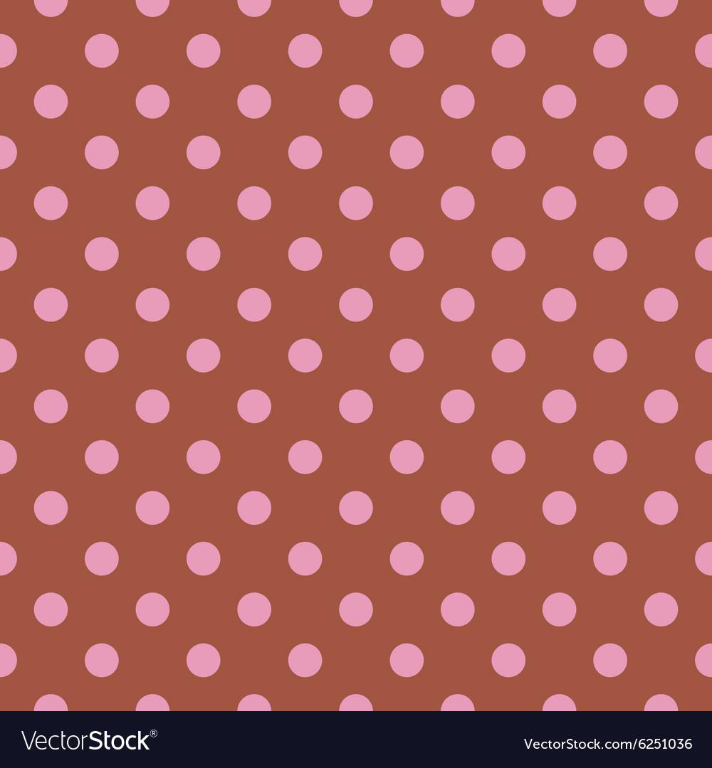 Pink and Brown Polka Dots