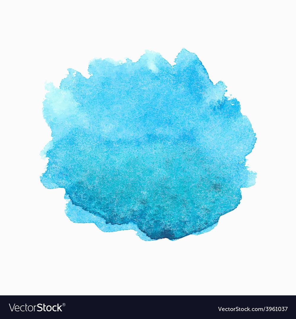 Bright blue watercolor spot vector image
