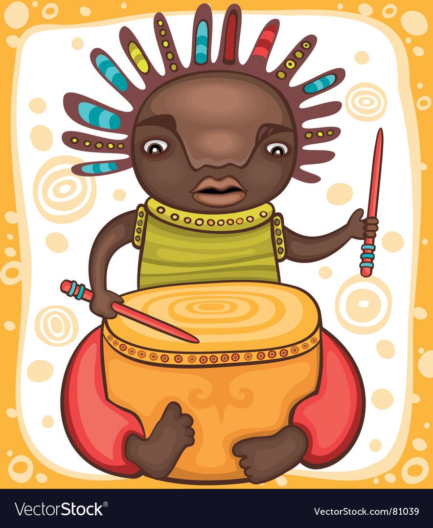 Ethnic boy vector image