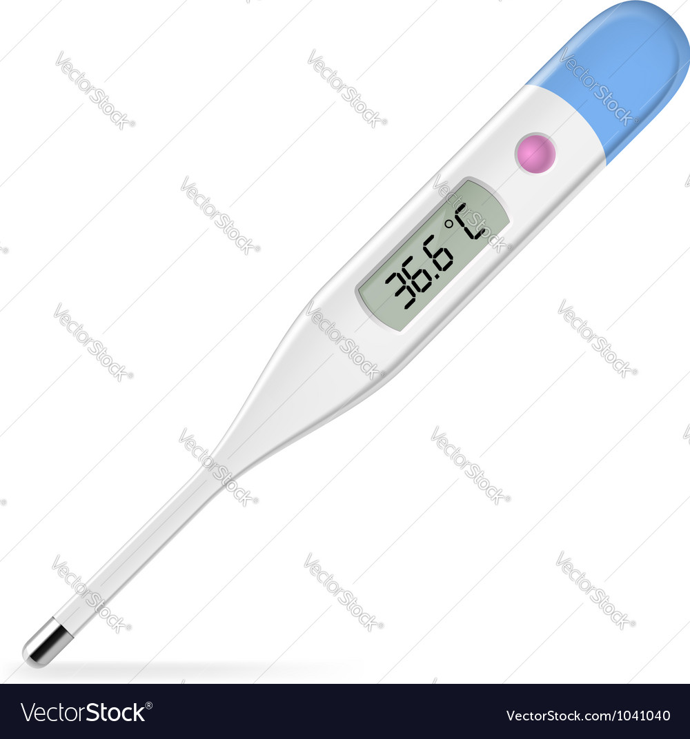 Electronic thermometer vector image