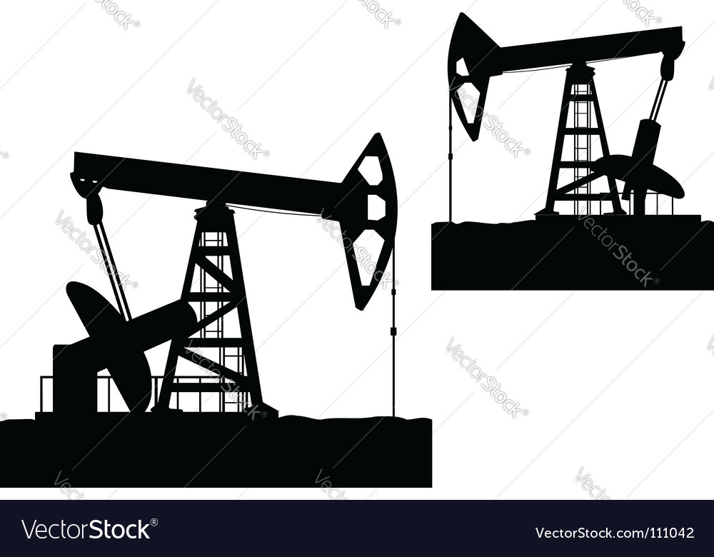 Oilfield Vector Image