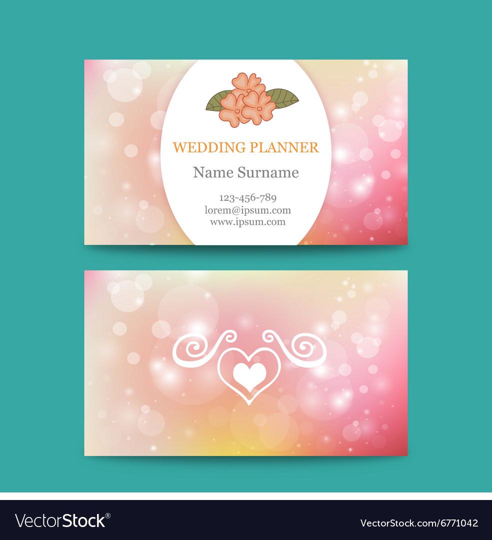 Elegant feminine business card template Royalty Free Vector