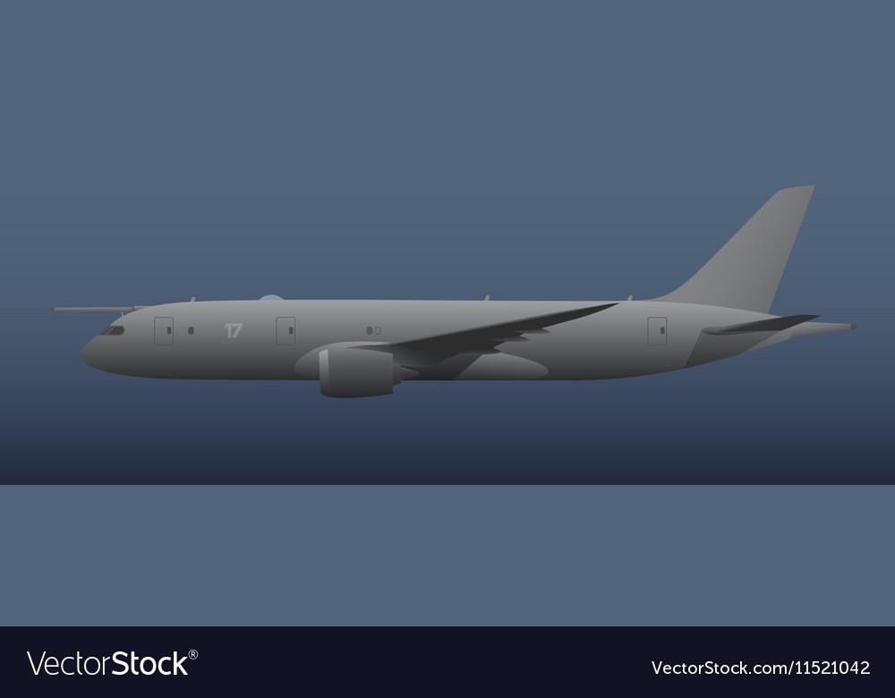 Maritime patrol aircraft vector image