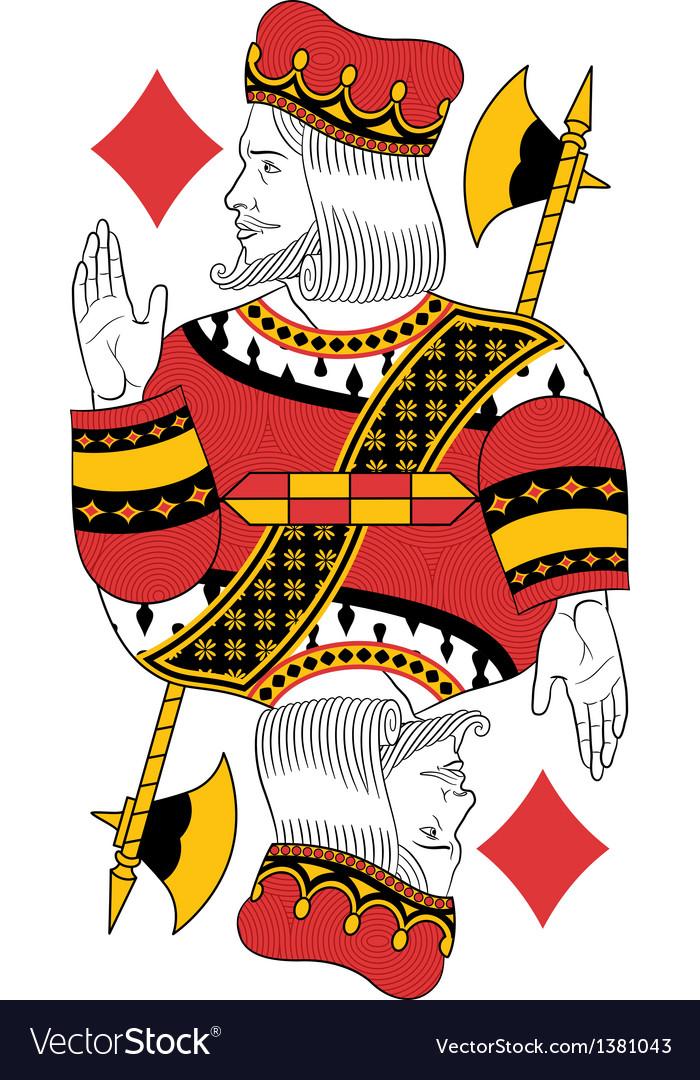 King of Diamonds vector image