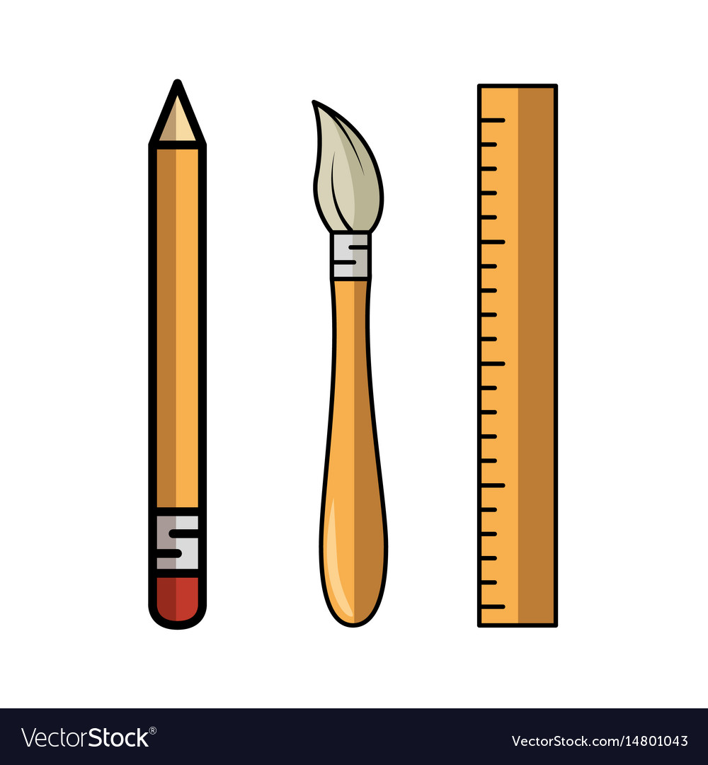 Art-related objects desgin vector image