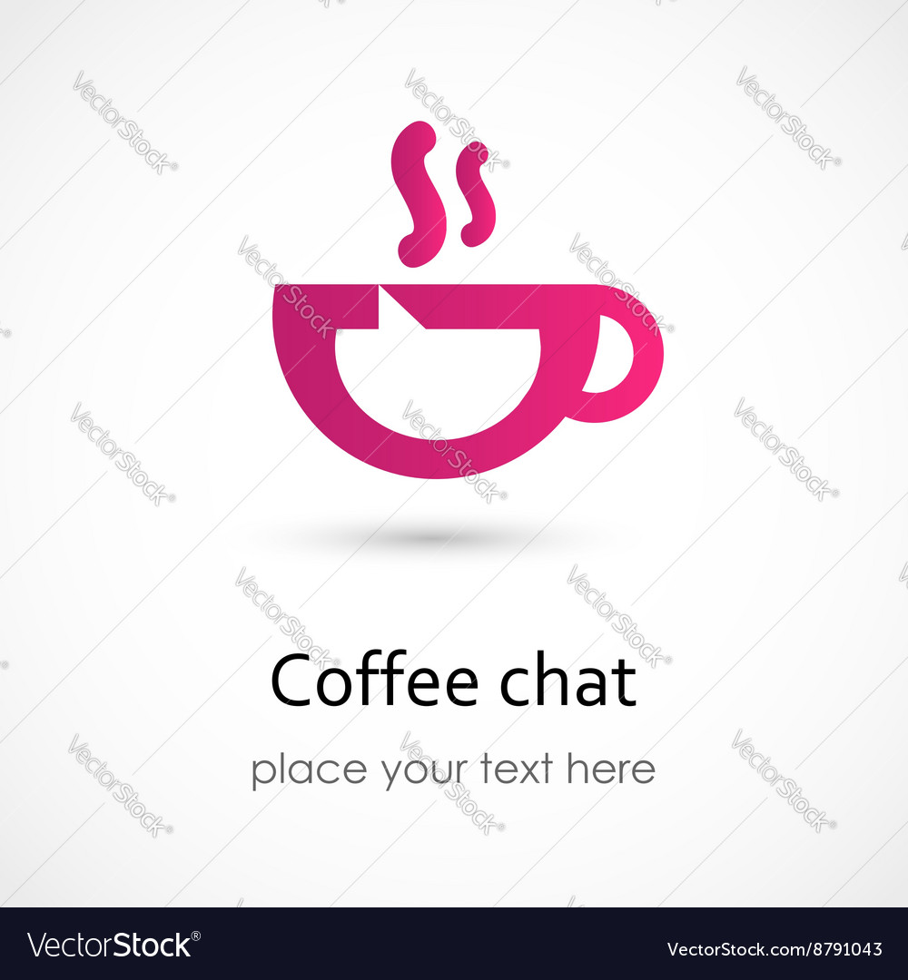 Coffee chat vector image