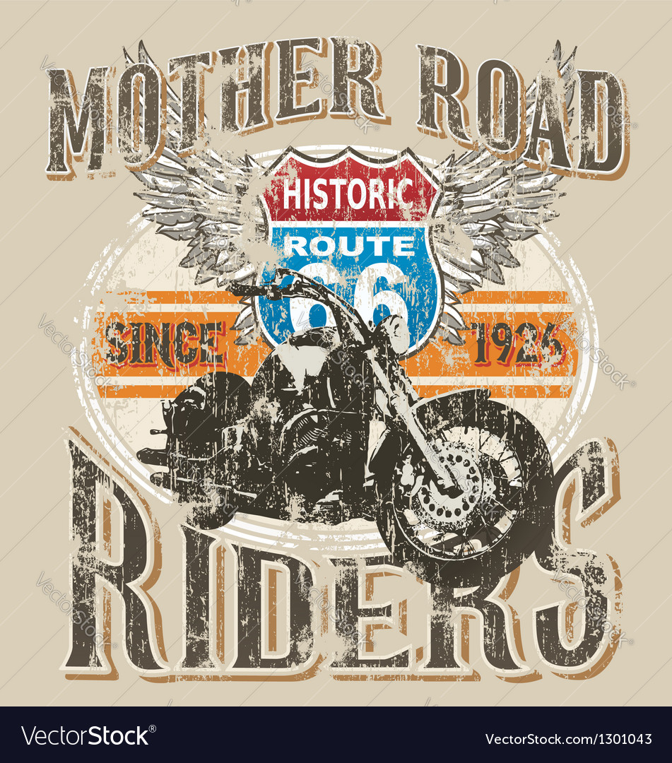 Route 66 rider vector image