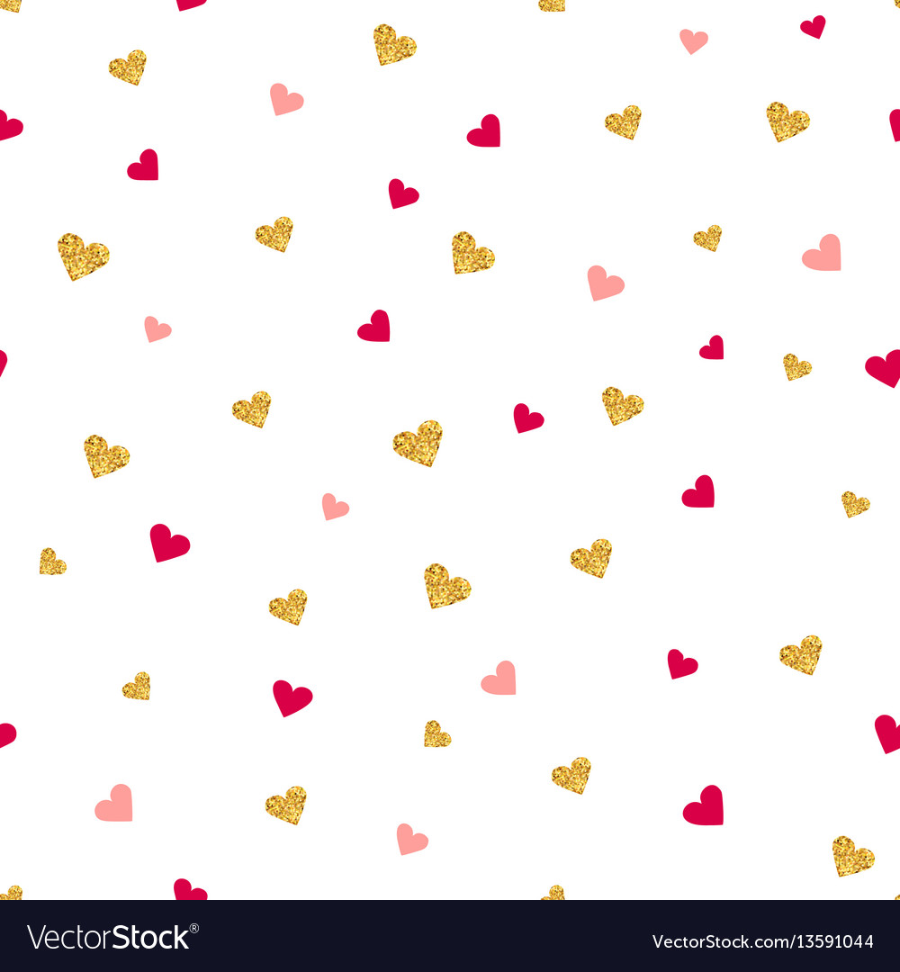 Valentines day seamless pattern vector image